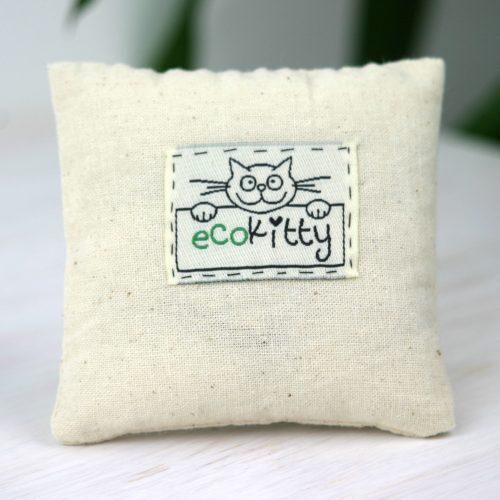 EcoKitty Handcrafted Organic Catnip Cushion Toy