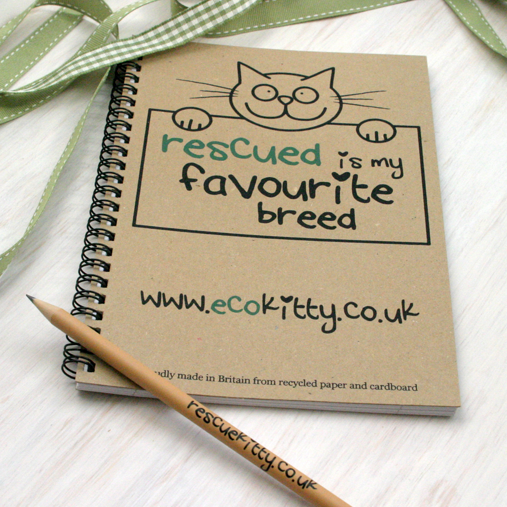 EcoKitty Notebook and Pencil